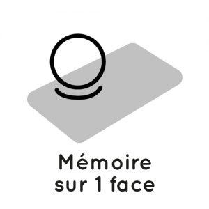 logo mémoire sur une face
