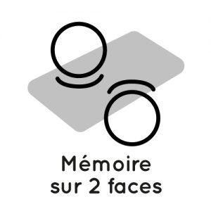 matelas avec mémoire de forme sur les deux faces
