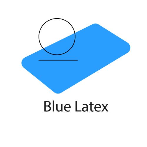 logo de la mousse polyuréthane à effet mémoire de forme Blue Latex®